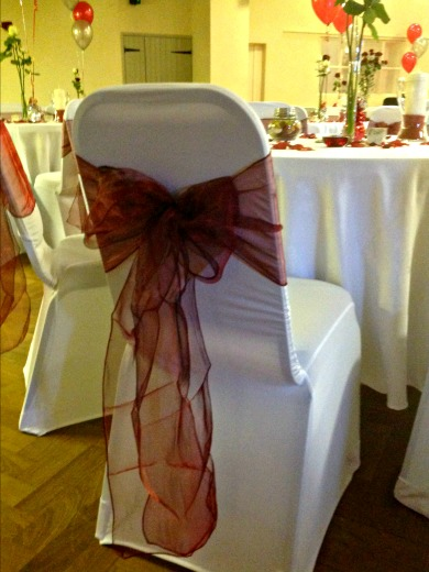 Chair Decorations - Wedding Reception Room Hire Grappenhall