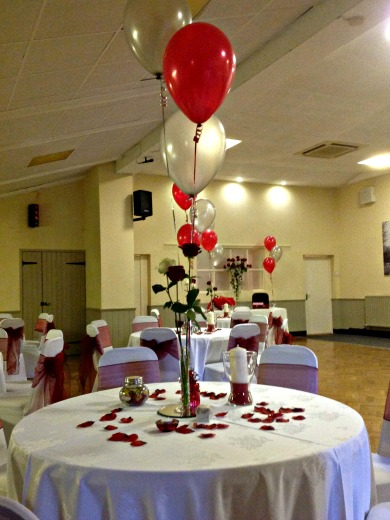 Intimate wedding reception function room hire grappenhall for Wedding reception room decoration ideas