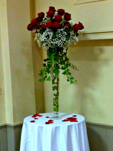 Wedding Reception Flower Table Arrangement
