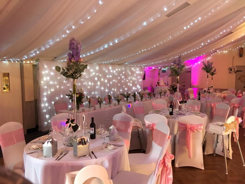 Grappenhall Wedding Function Room with Ceiling Drapes