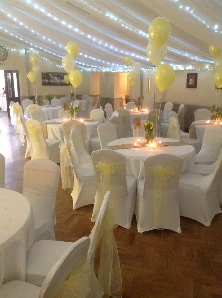 Grappenhall 'Old Barn' Wedding Function Room - Yellow Theme