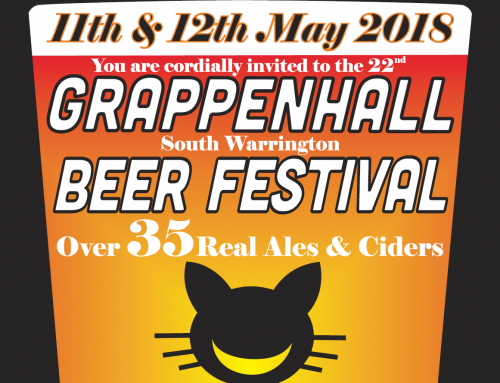 22nd Annual Grappenhall Beer Festival 11th & 12th May 2018