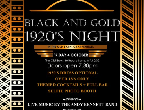 Black and Gold 1920's Night – Friday 4th October