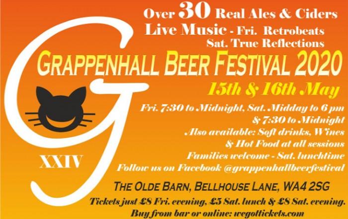 Grappenhall Beer Festival Flyer 2020